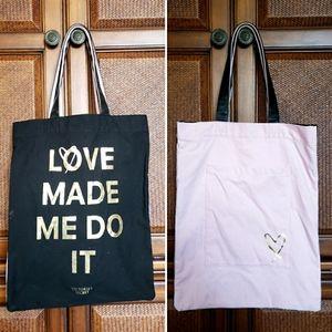 Victoria's Secret double tote bag.